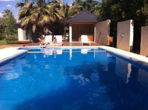 cabañas con piscina